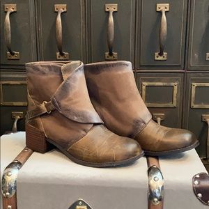 Antelope Leather Ankle Boots NWOT
